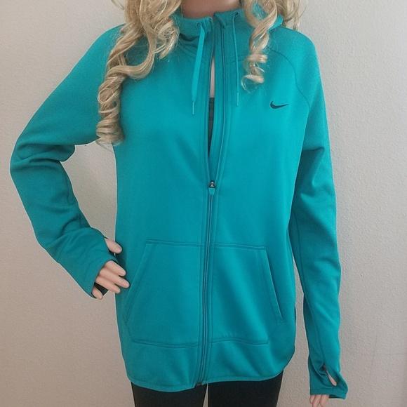 Women's Nike Small Dri Fit Zip Up hoodie Teal